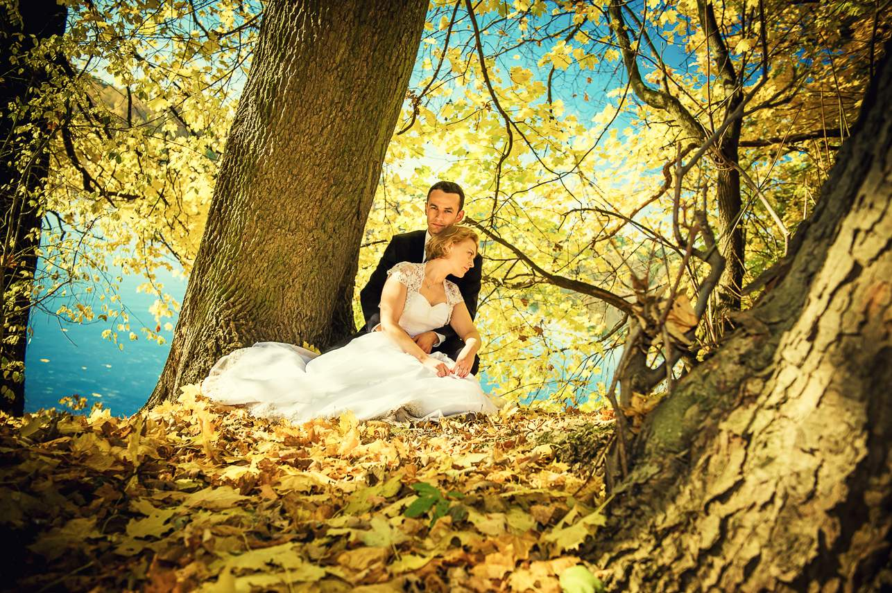 p 14 - Jesienna sesja ślubna