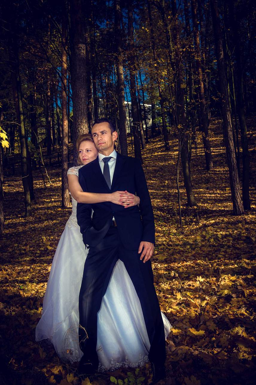 p 21 - Jesienna sesja ślubna