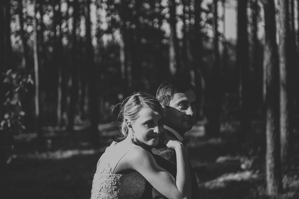 plener las 15 - Plener ślubny w lesie
