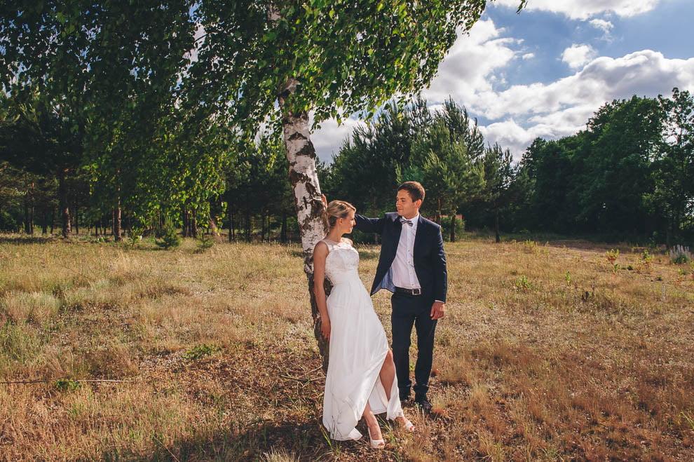 plener las 3 - Plener ślubny w lesie