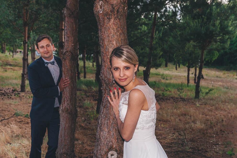 plener las 4 - Plener ślubny w lesie