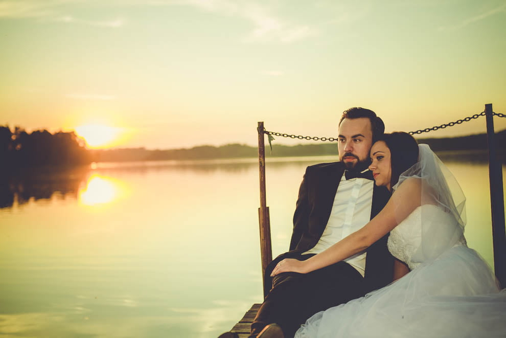sesja nad jeziorem 10 - Sesja ślubna nad jeziorem