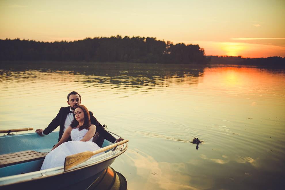sesja nad jeziorem 15 - Sesja ślubna nad jeziorem