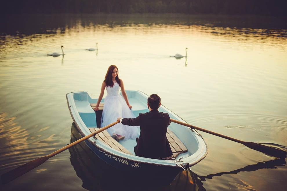 sesja nad jeziorem 18 - Sesja ślubna nad jeziorem