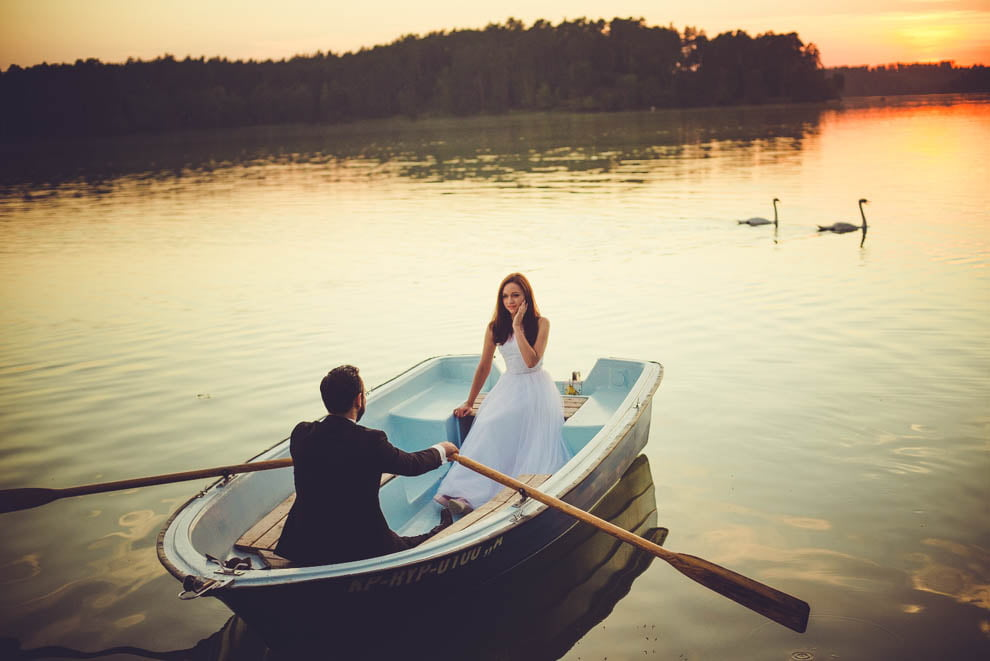 sesja nad jeziorem 19 - Sesja ślubna nad jeziorem