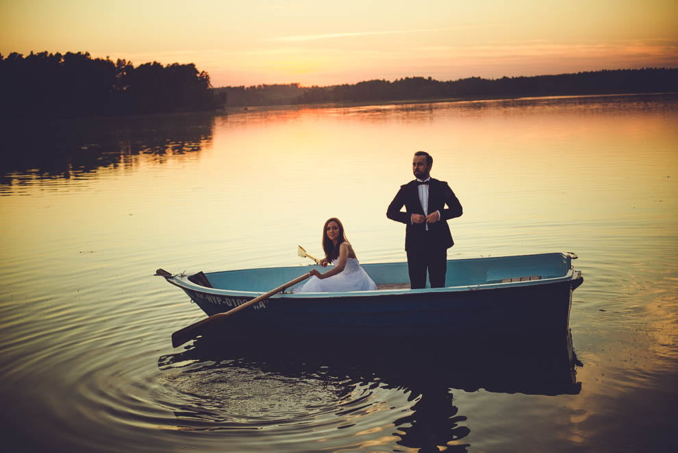 sesja nad jeziorem 22 - Sesja ślubna nad jeziorem