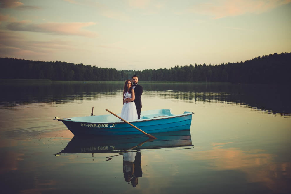 sesja nad jeziorem 24 - Sesja ślubna nad jeziorem