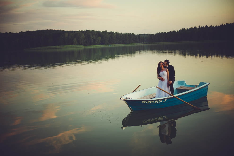 sesja nad jeziorem 26 - Sesja ślubna nad jeziorem