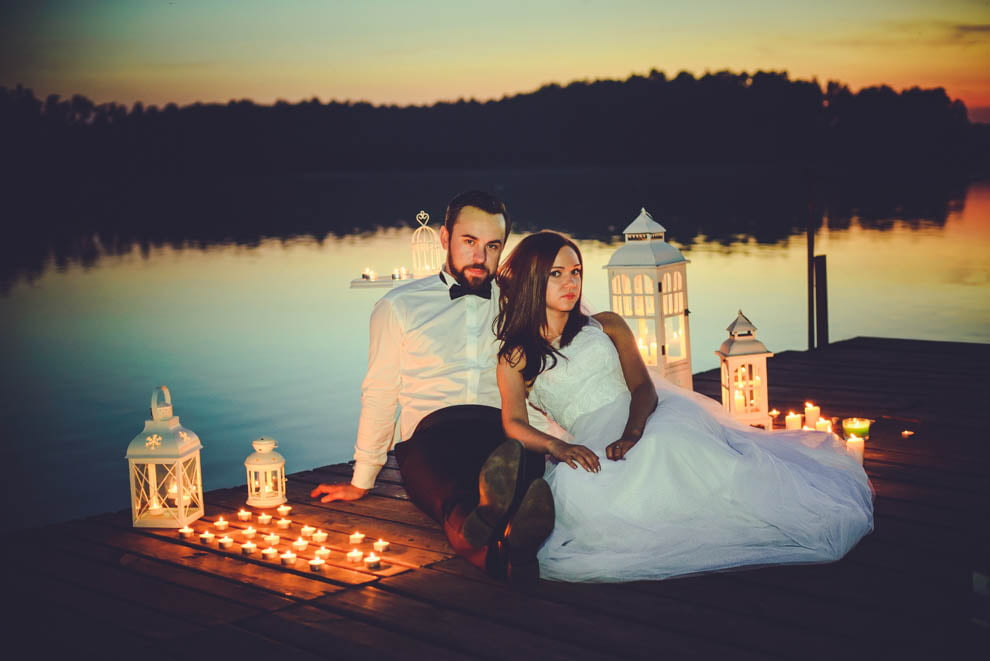 sesja nad jeziorem 34 - Sesja ślubna nad jeziorem