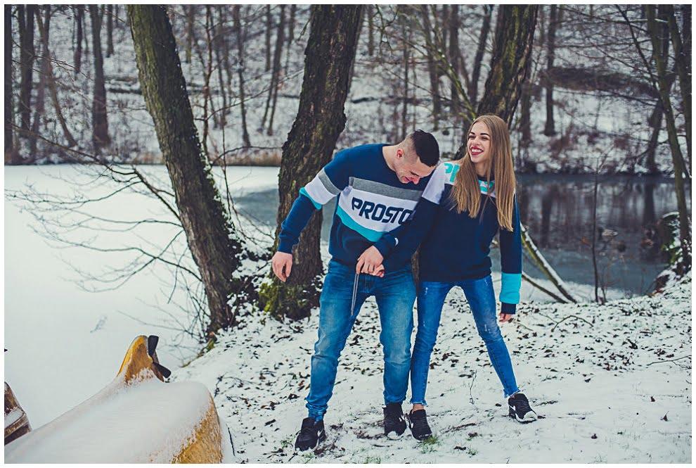 DSC 9731 - Zimowa sesja narzeczeńska w Górznie