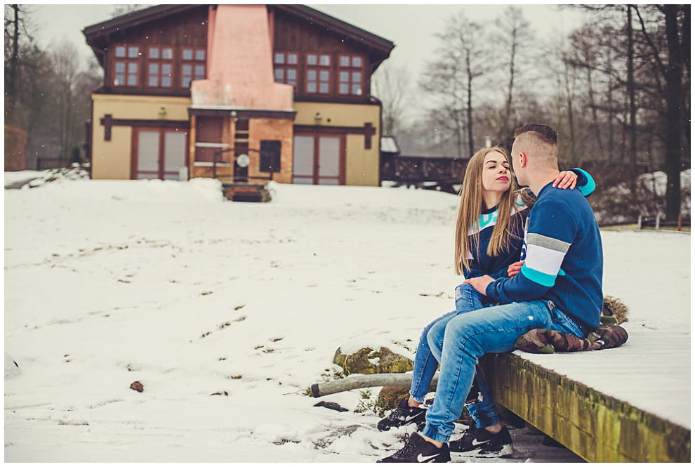 DSC 9863 - Zimowa sesja narzeczeńska w Górznie